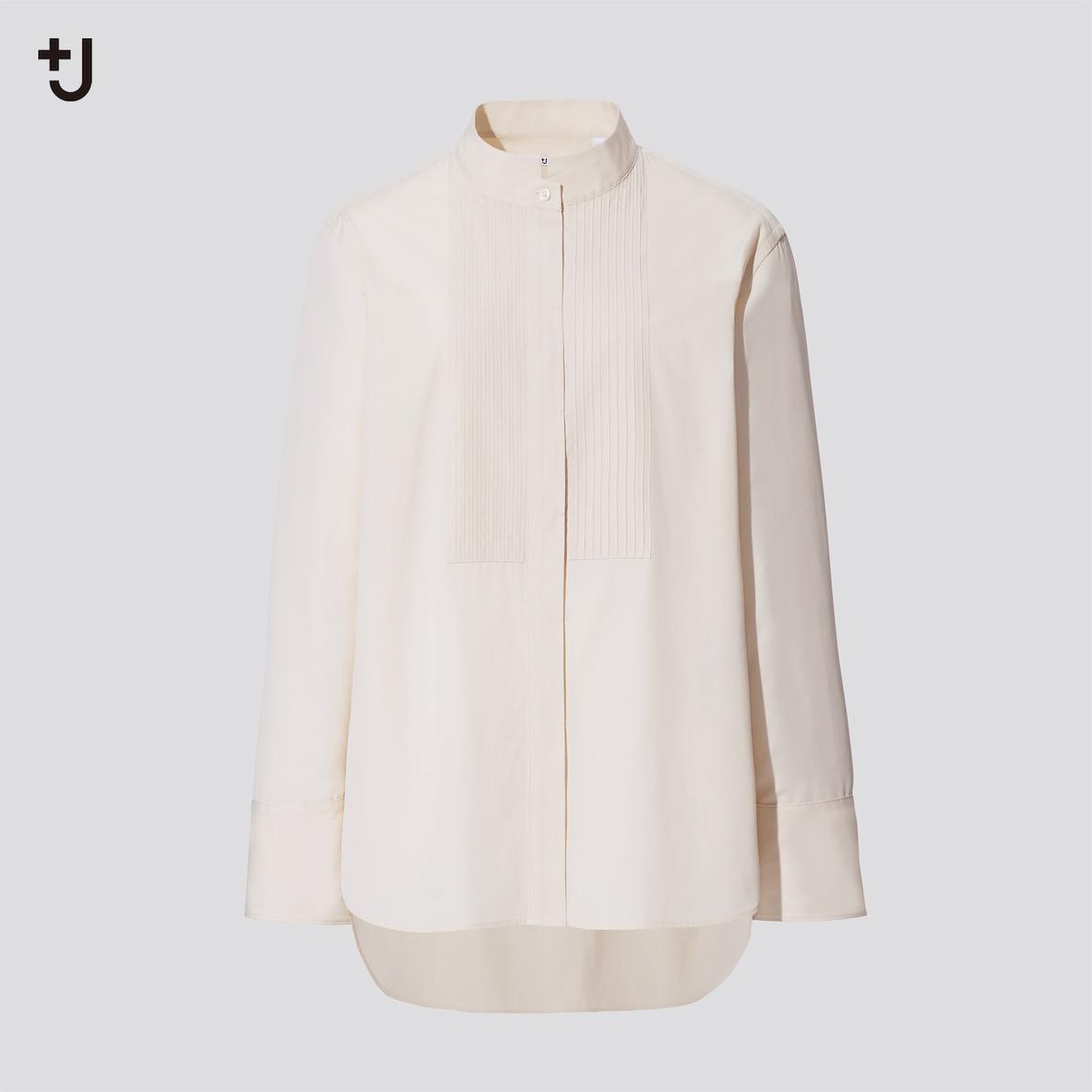 スーピマコットンタックシャツ(長袖)