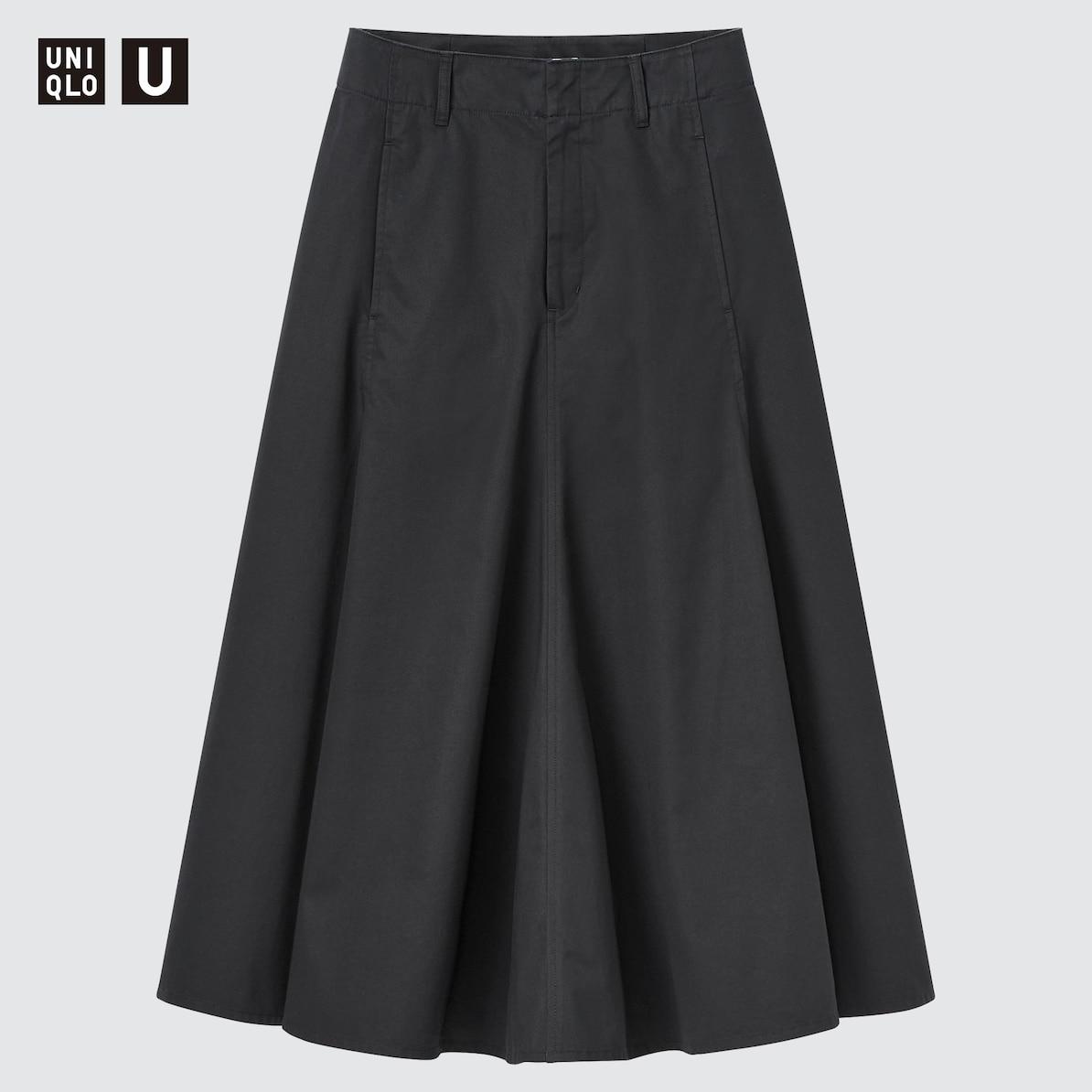 スカート フレア コットン ツイル