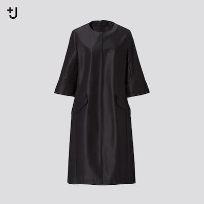 シルクブレンドワンピース(5分袖)