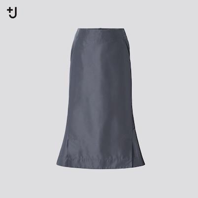 シルクブレンドフレアスカート