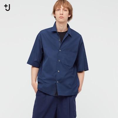 スーピマコットンオーバーサイズオープンカラーシャツ(半袖)