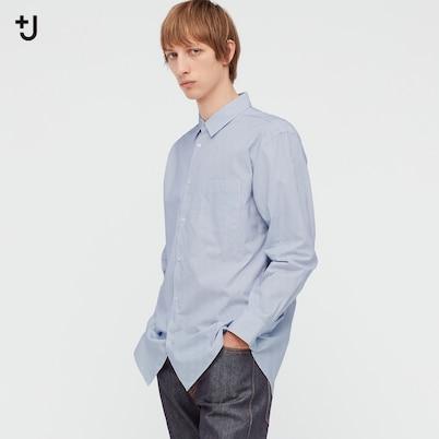 スーピマコットンレギュラーフィットシャツ(長袖・ストライプ)
