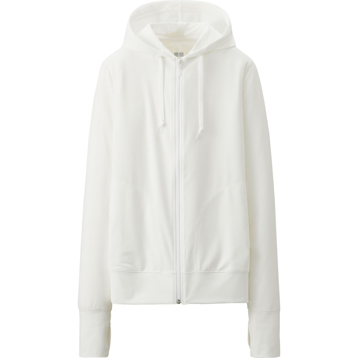W's hooded jacket, WHITE, large