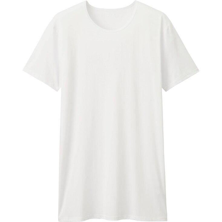 Men'S Airism Crew Neck T-Shirt, White, Large