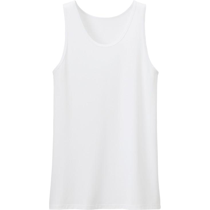 Men Airism Mesh Tank Top, White, Large