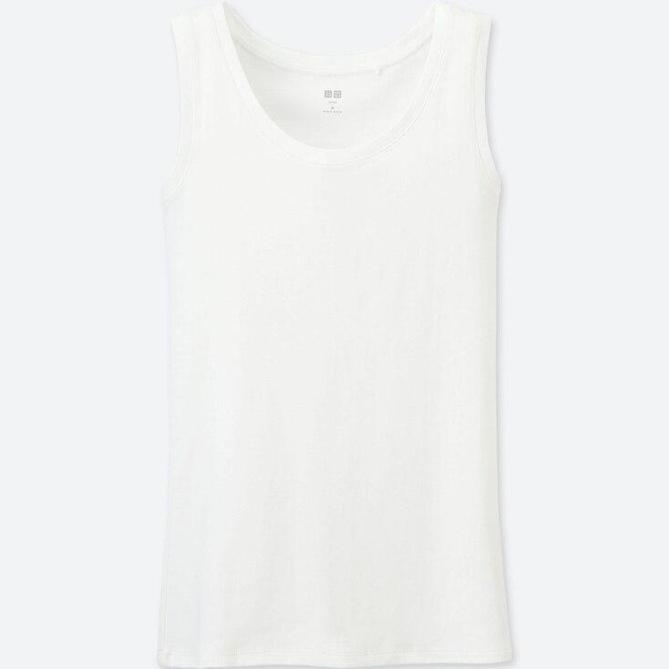 Women Supima® Cotton Tank Top, White, Large