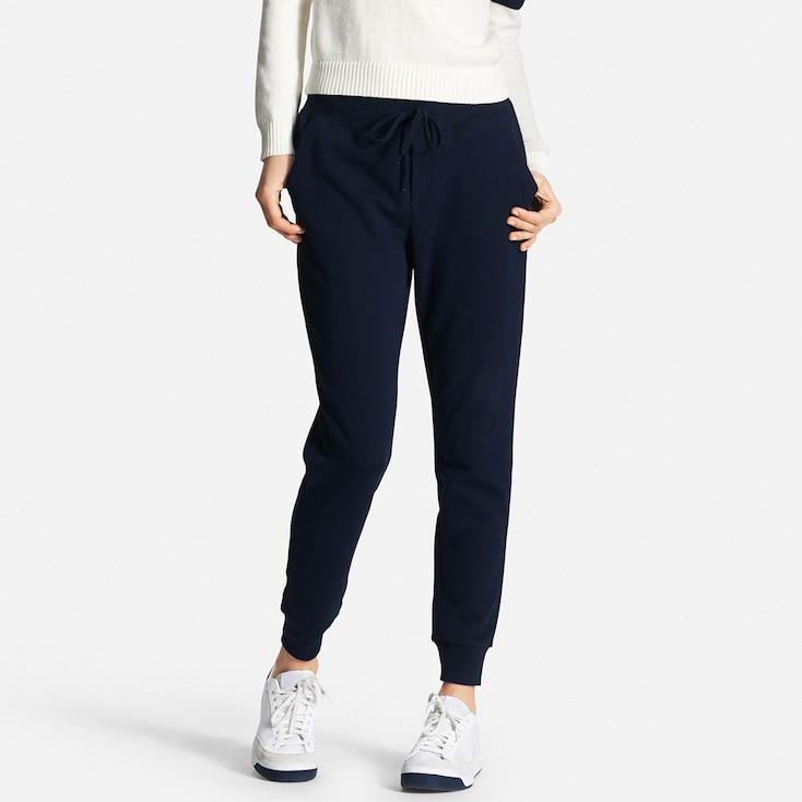 Women's Sweatpants, NAVY, large