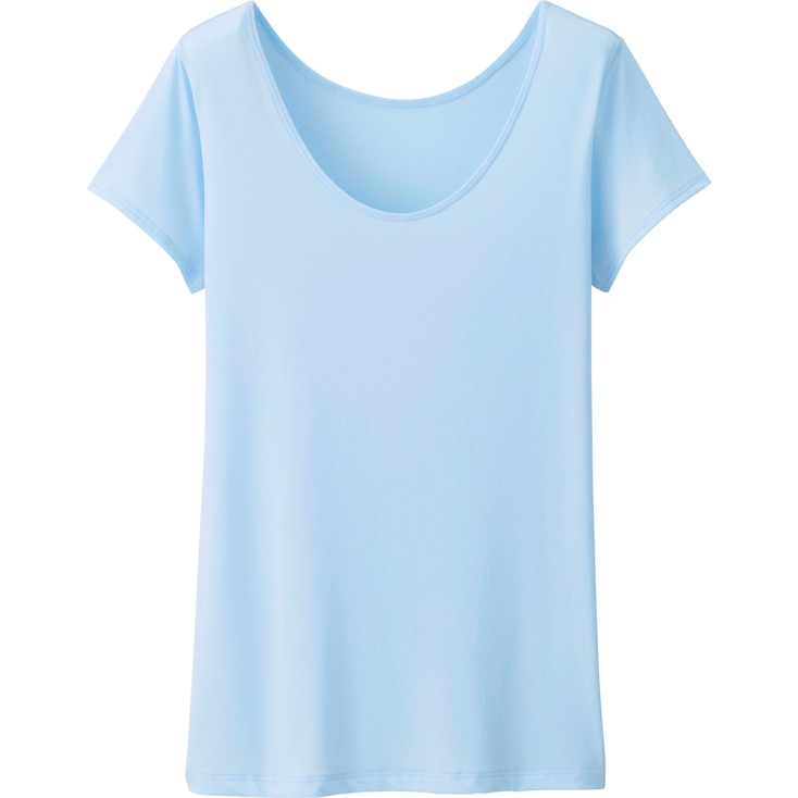 Women'S Airism Scoop Neck T-Shirt, Blue, Large