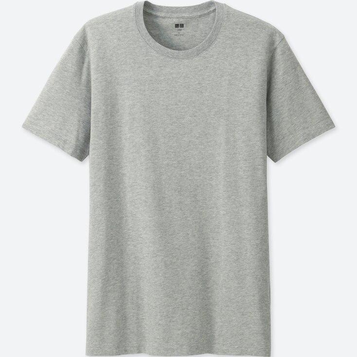 Men Supima® Cotton Crew Neck T-Shirt, Gray, Large