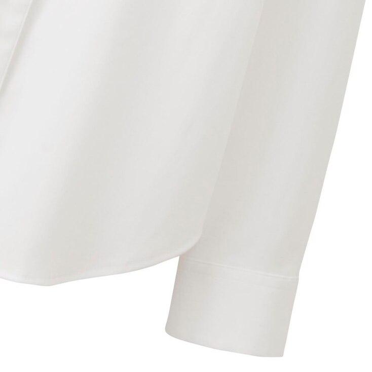 Women Supima® Cotton Stretch Dress Shirt, White, Large