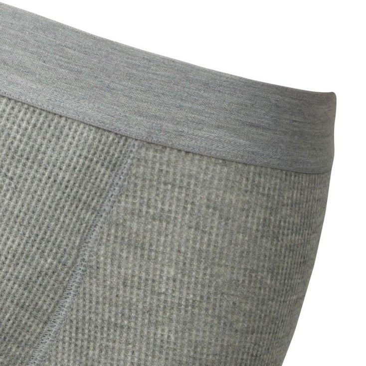 Men Supima® Cotton Waffle Boxer Briefs, Gray, Large