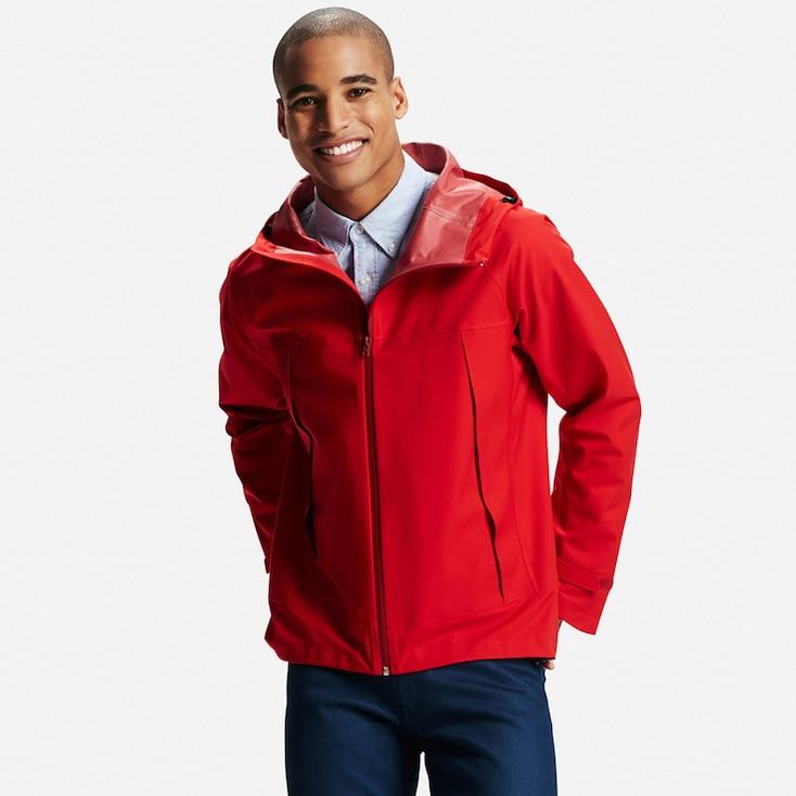 Men's BlockTech Rain Coat, RED, large