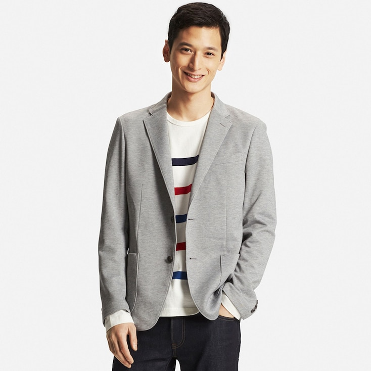 Men Comfort Jacket, Gray, Large