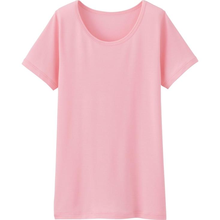 Kids Airism Mesh Scoopneck T-Shirt, Pink, Large