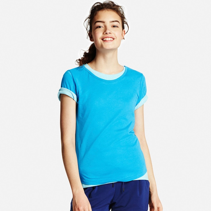 Women Modal Linen T-Shirt, Blue, Large