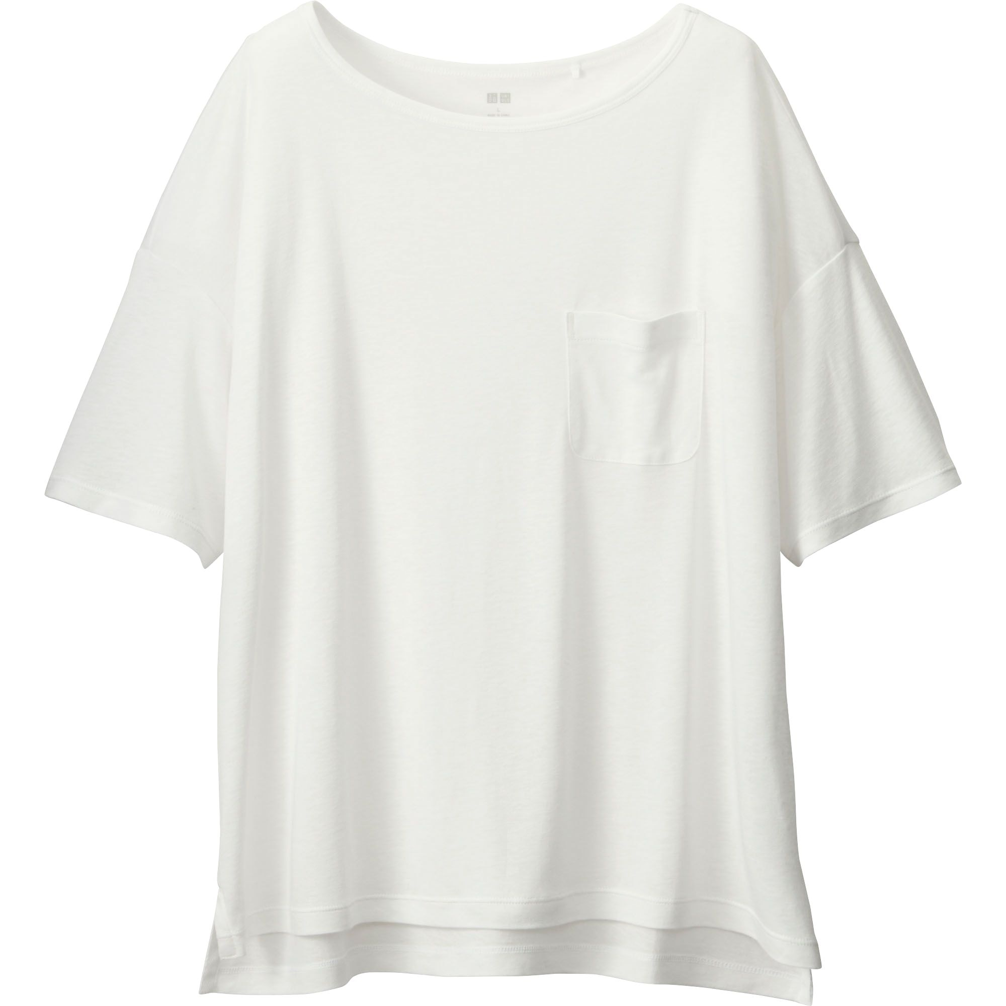 Women S Modal Linen Boxy T Shirt Uniqlo Us