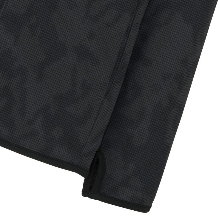 Men Dry-Ex Printed Zip-Up Hoodie, Navy, Large