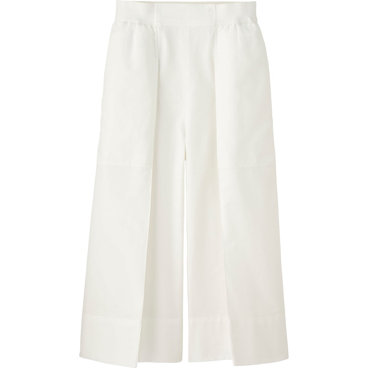 Women Lemaire Oxford Gaucho Pants, Off White, Large