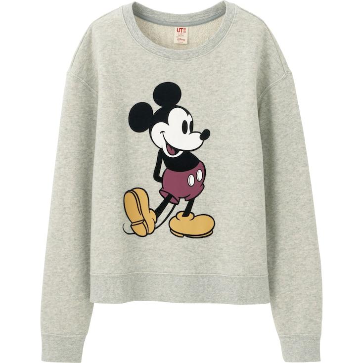 Women Disney Project Long Sleeve Sweat Pullover, Gray, Large