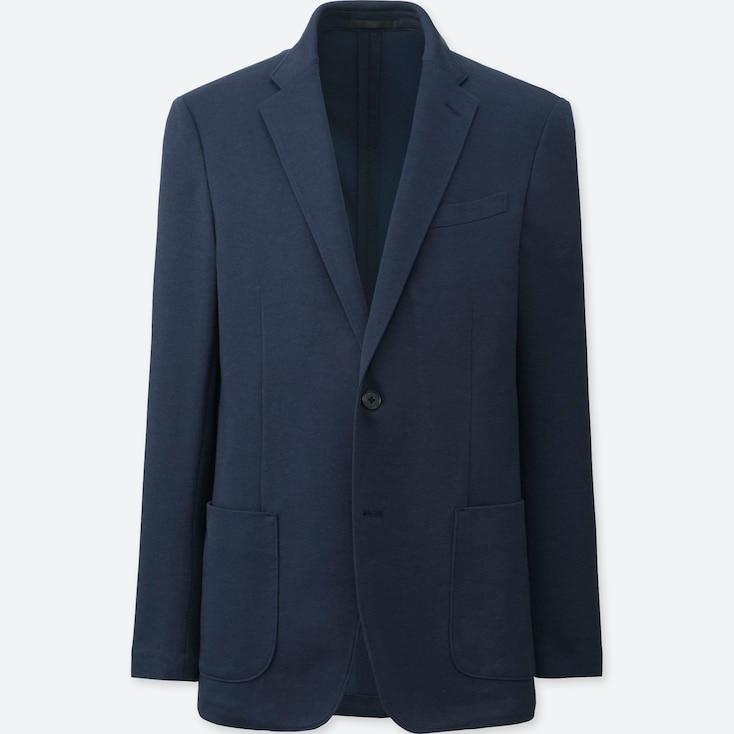 Men Comfort Jacket, Navy, Large
