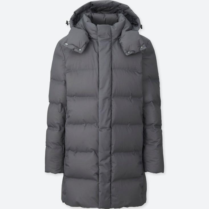 Men Seamless Down Coat, Gray, Large