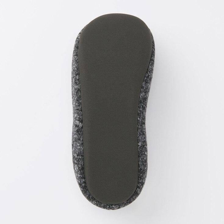 Fleece Room Shoes, Dark Gray, Large