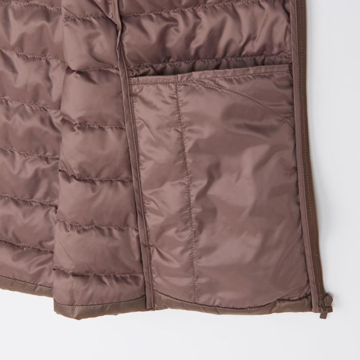Women Ultra Light Down Compact Vest, Beige, Large