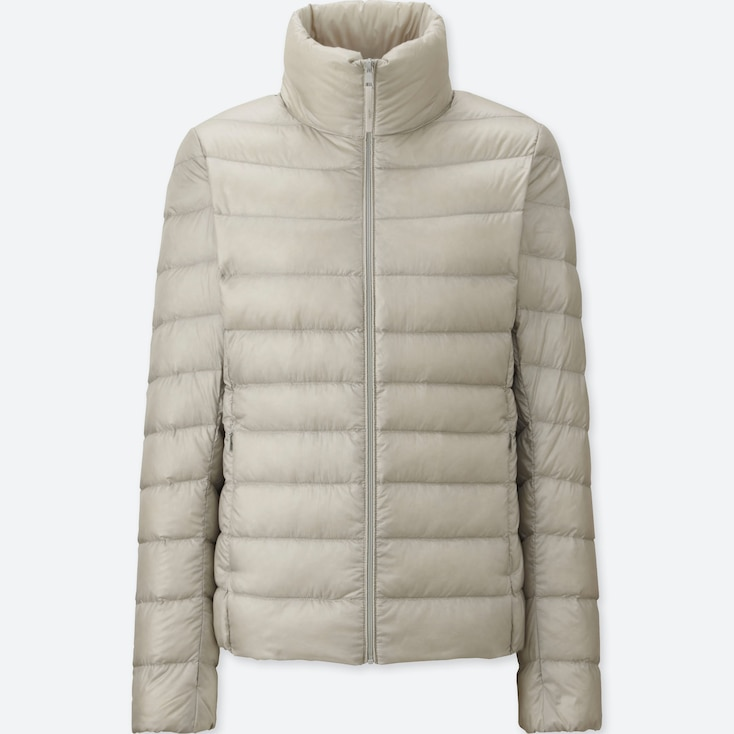 WOMEN ULTRA LIGHT DOWN JACKET, LIGHT GRAY, large