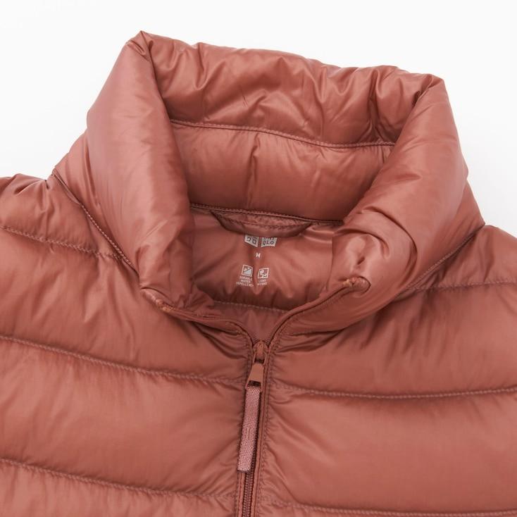 Women Ultra Light Down Jacket, Light Gray, Large