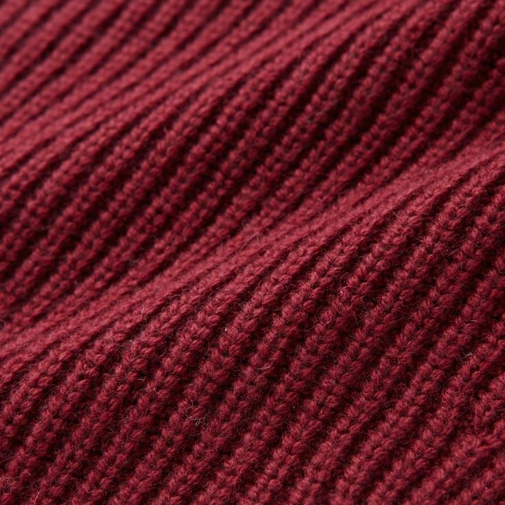 Women Cashmere Blend V-Neck Sweater, Wine, Large