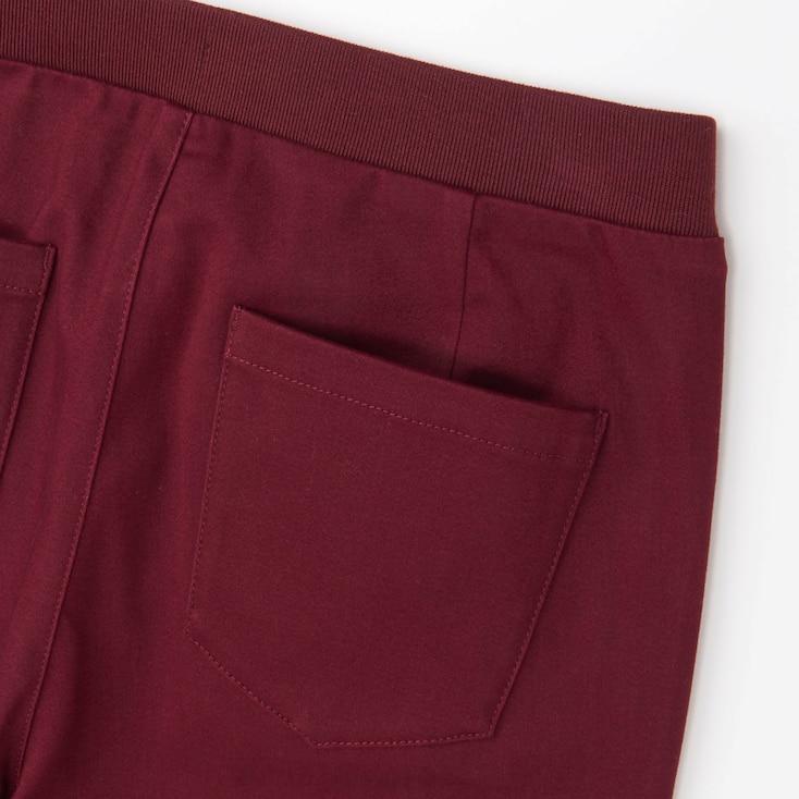 Women Heattech High Rise Leggings Pants, Beige, Large