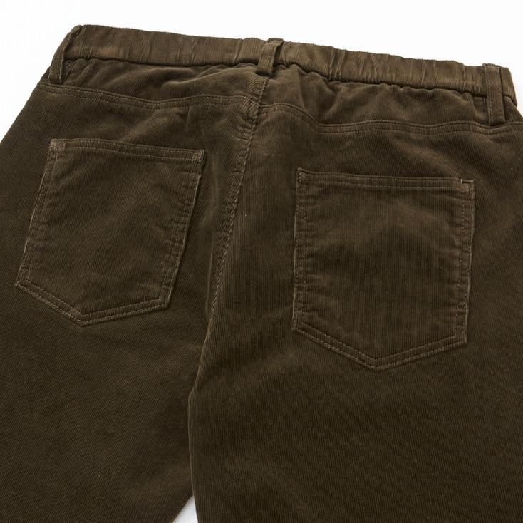 Women Corduroy Leggings Pants, Wine, Large