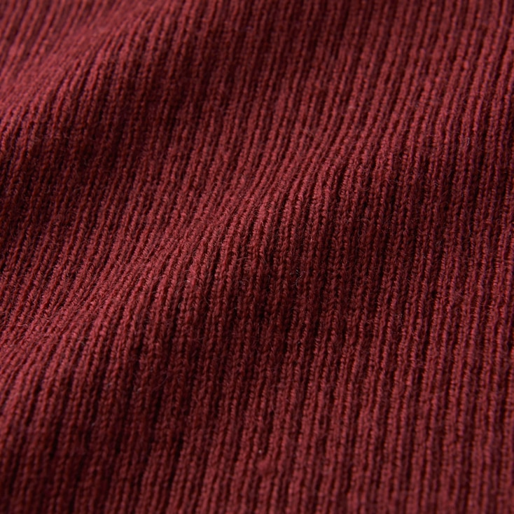 Women Extra Fine Merino Ribbed Turtle Neck Sweater, Brown, Large