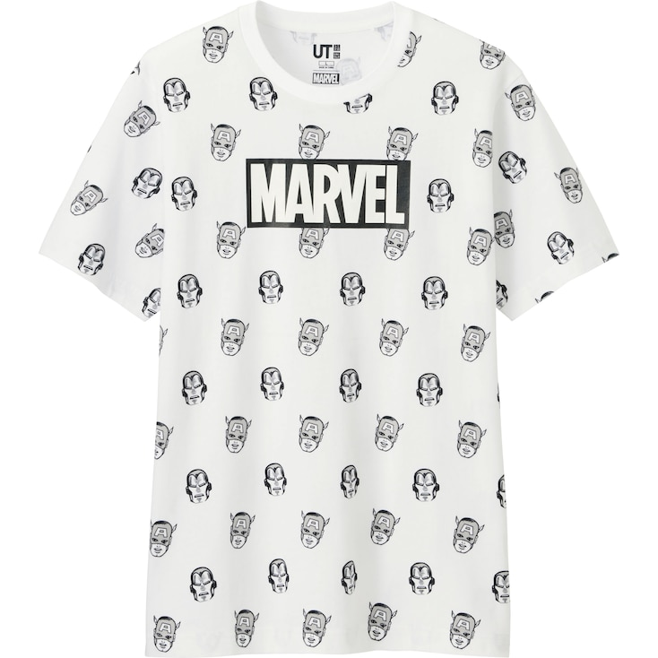 Men Marvel Graphic T-shirt, White, Large