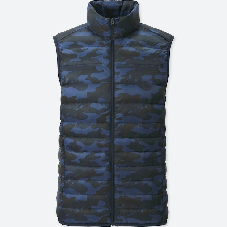 Men Ultra Light Down Vest, Blue, Large