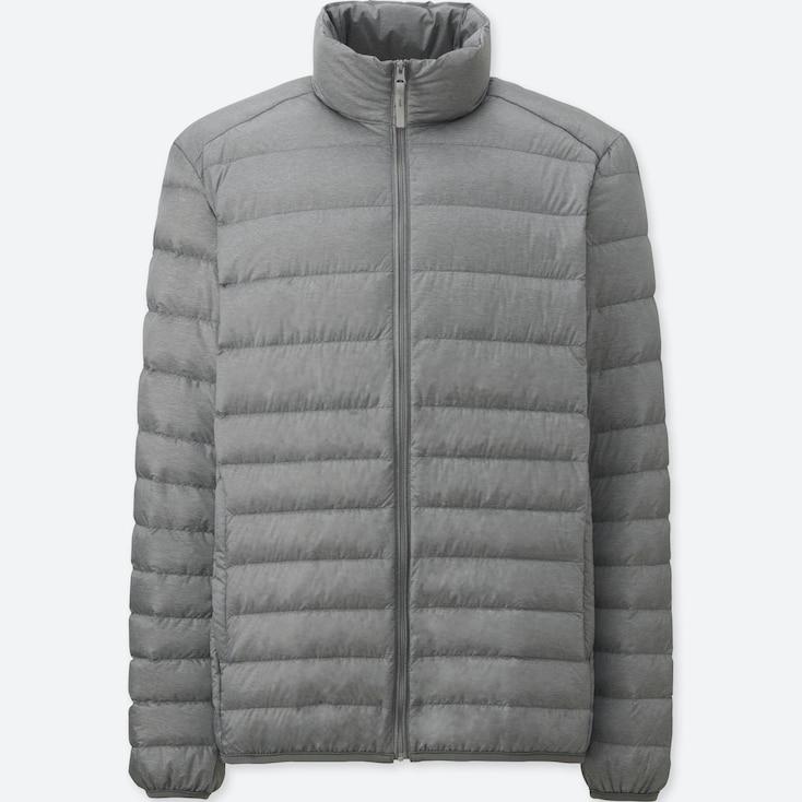 Men Ultra Light Down Jacket, Gray, Large