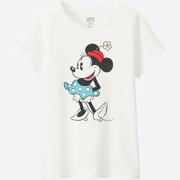 Girls Disney Collection Short Sleeve Graphic T-Shirt, White, Large