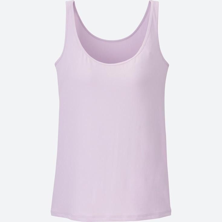 Women Airism Bra Sleeveless Top, Purple, Large