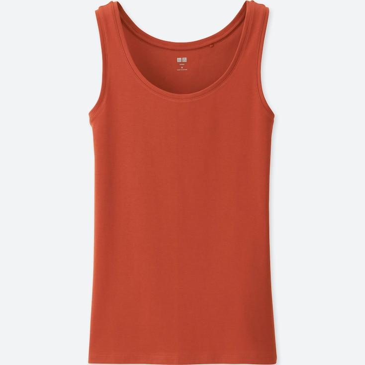 Women Supima® Cotton Tank Top, Orange, Large