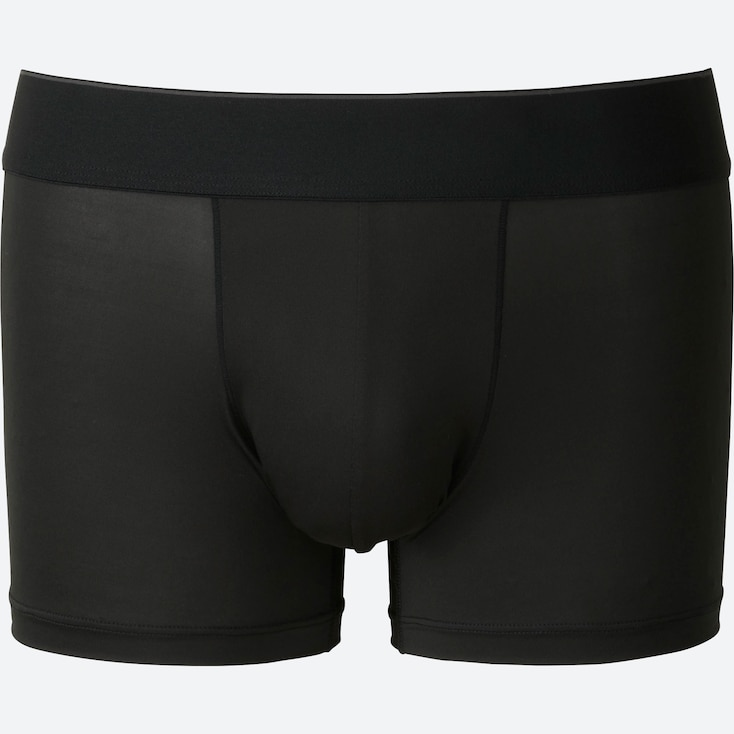 MEN AIRism LOW-RISE BOXER BRIEFS, BLACK, large