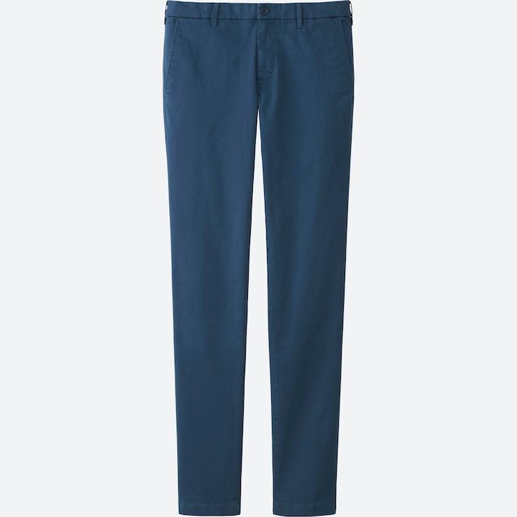 MEN ULTRA STRETCH CHINO FLAT FRONT PANTS, BLUE, large