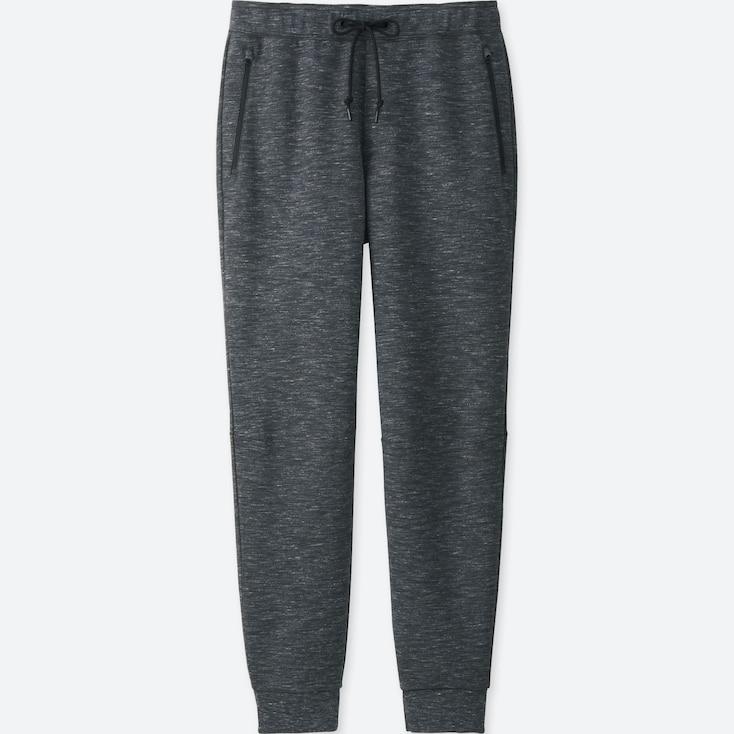 Men Dry Stretch Sweatpants, Dark Gray, Large