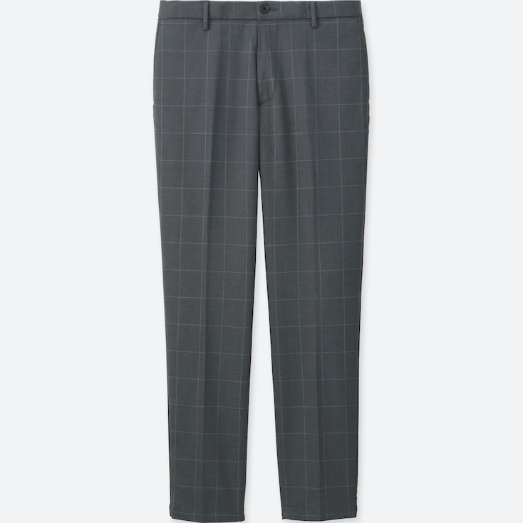 Men Relaxed Smart Style Pants, Gray, Large