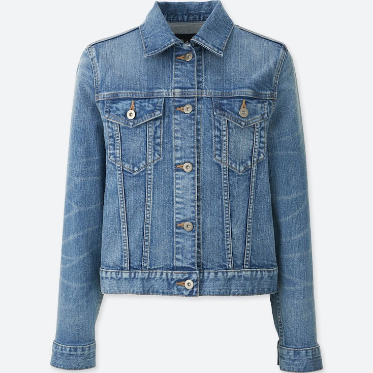 Women Denim Jacket, Blue, Large