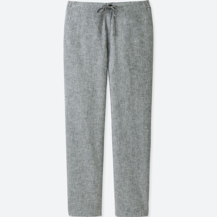 sale release date: volume large WOMEN COTTON LINEN RELAXED PANTS