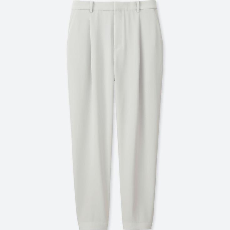 Women Drape Jogger Pants, Light Gray, Large