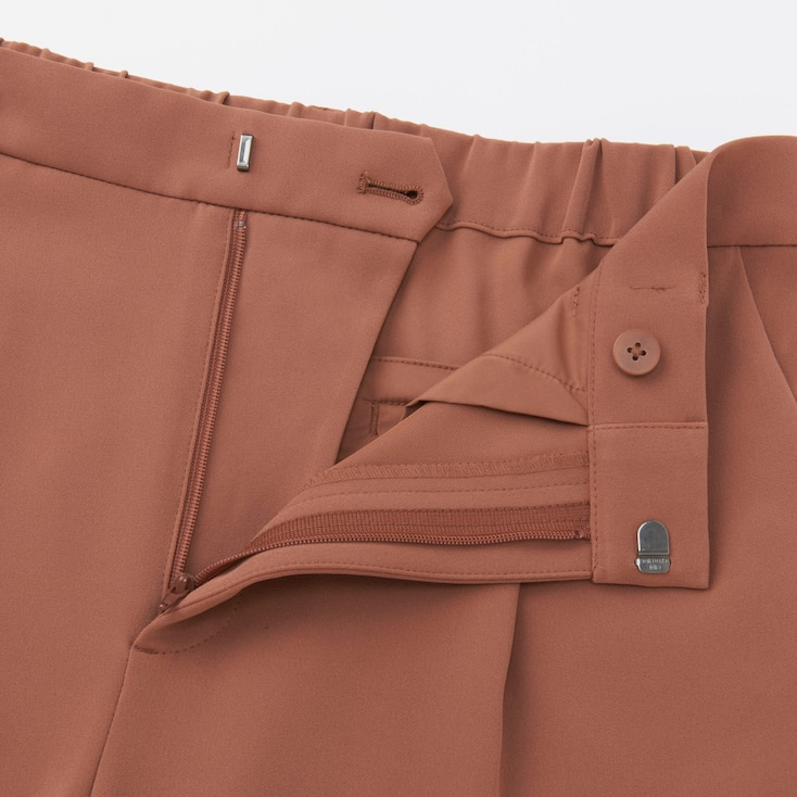 Women Drape Jogger Pants, Brown, Large