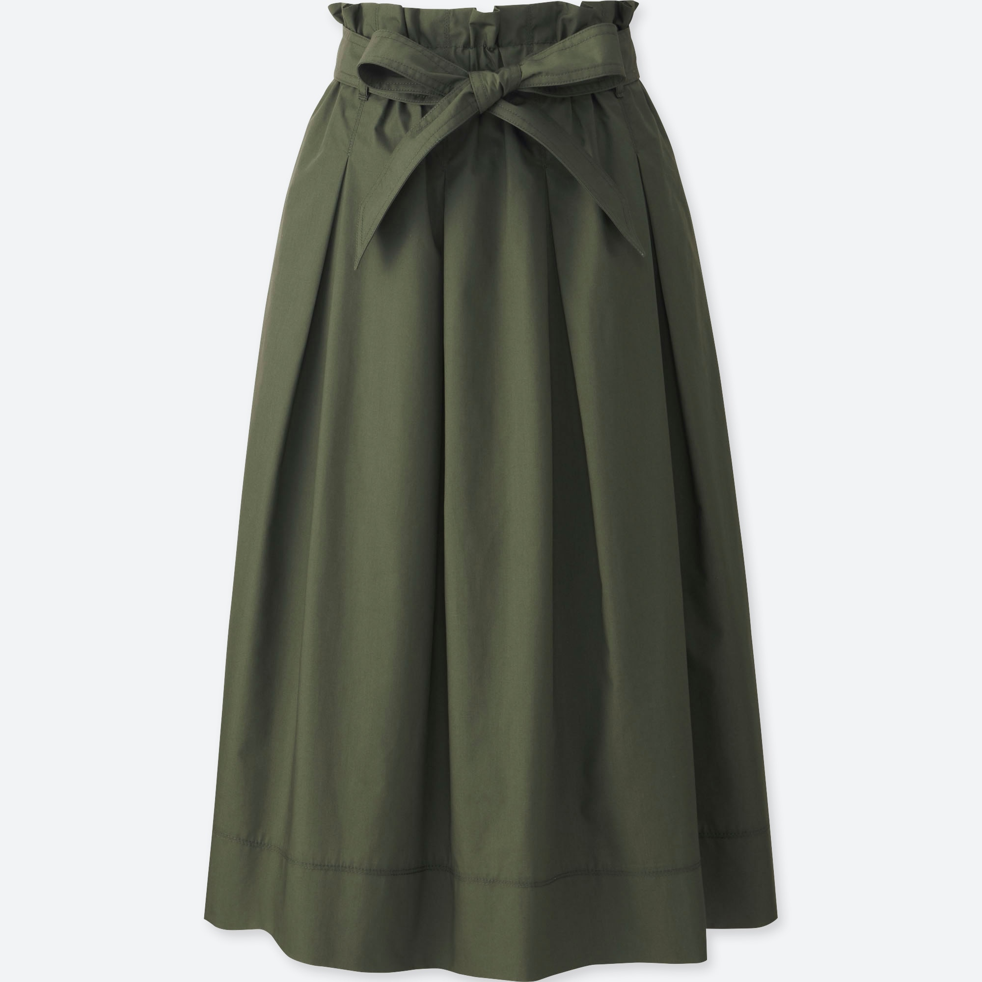 wholesale online variety styles of 2019 authorized site WOMEN HIGH WAIST BELTED FLARE MIDI SKIRT