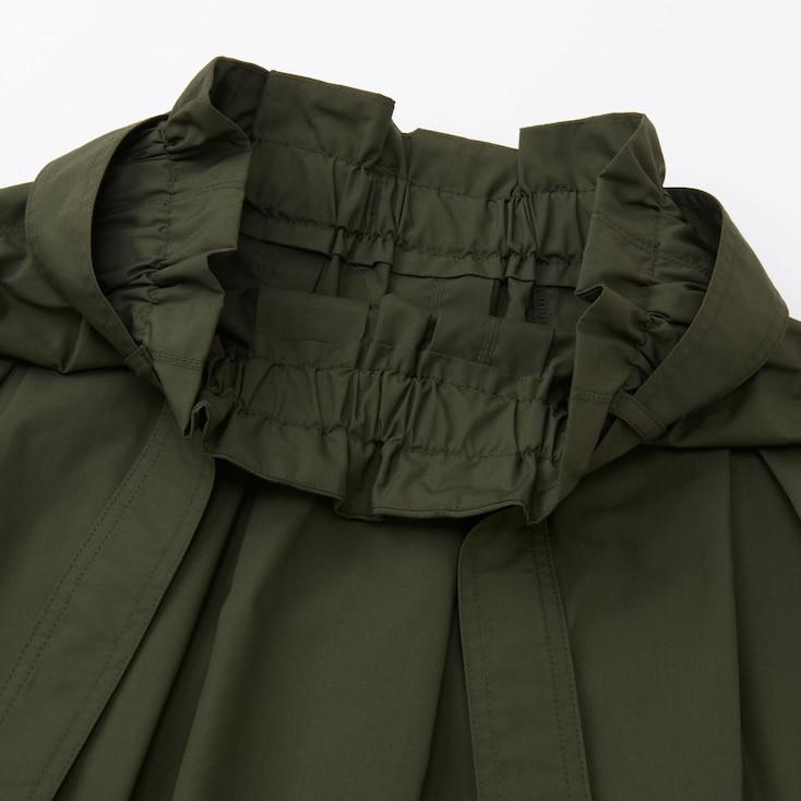 Women High Waist Belted Flare Midi Skirt, Olive, Large