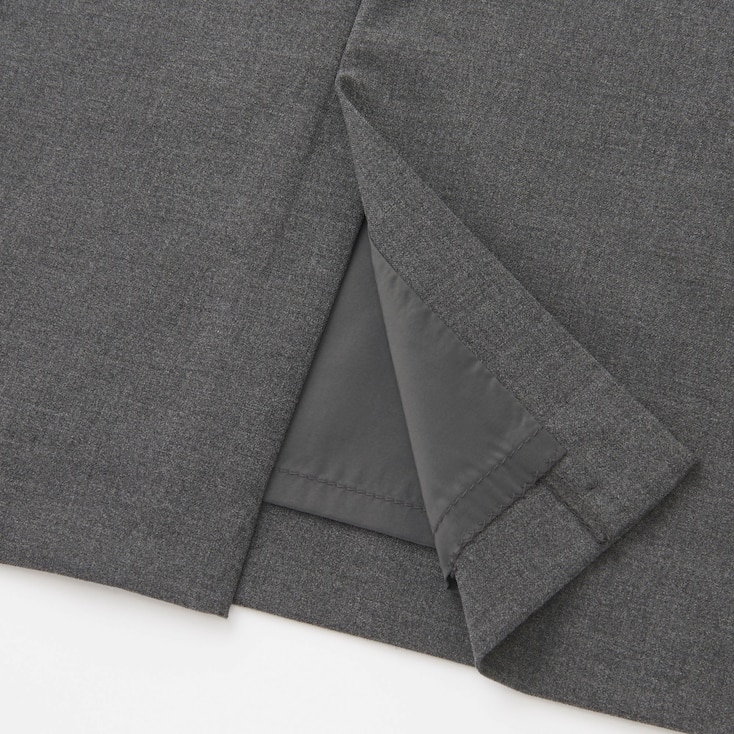 Women Stretch Skirt (Online Exclusive), Gray, Large